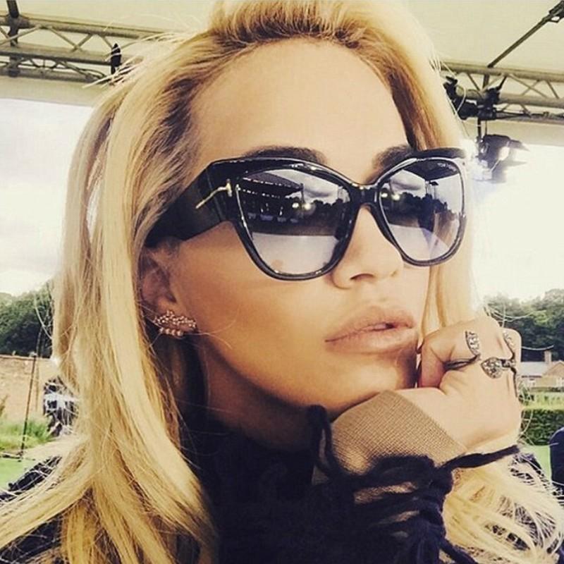 2018欧美新款潮流太阳镜 T字复古大框太阳眼镜 时尚女士墨镜9778