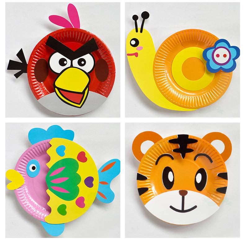 【特价】纸盘画手工制作材料早教玩具幼儿园教材3岁画