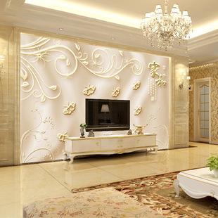 订做大型壁画电视背景墙壁纸壁画 客厅卧室现代中式家和万事兴图片