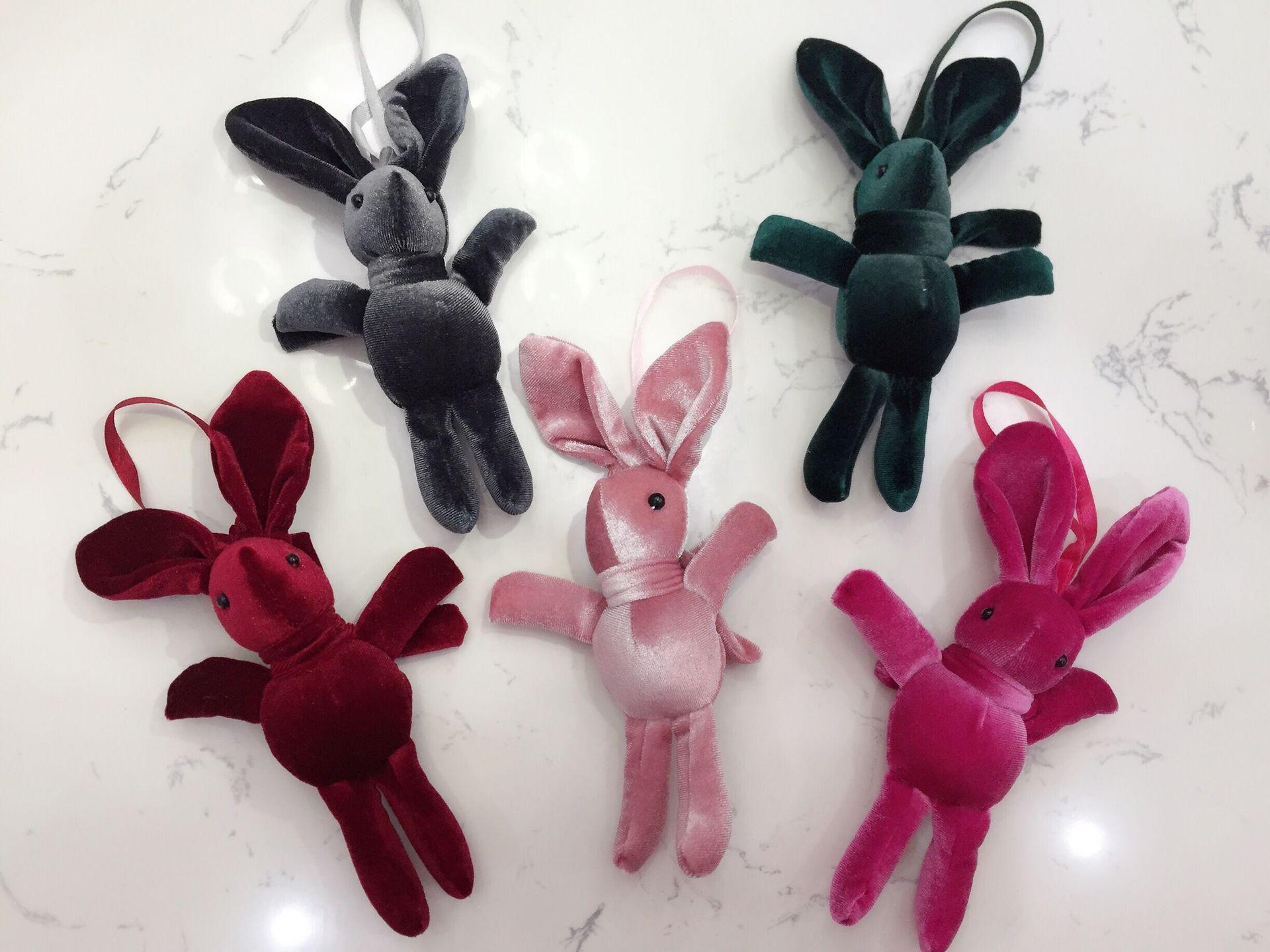 韩国绒许愿兔挂件兔公仔永生花束兔子娃娃配件毛绒玩具挂件包包挂