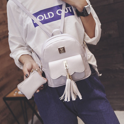New wholesale Korean tassel mother bag ladies backpack handbags two-piece suit