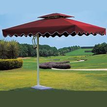 廠家直銷戶外遮陽傘庭院廣告傘大太陽傘方形沙灘傘休閑羅馬傘