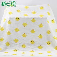 纯棉双层卡通婴童用品印花布 宝宝服装口水巾幼儿园床品印花面料