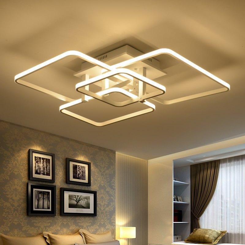 客厅灯led吸顶灯简约现代长方形大气 创意家用温馨卧室灯餐厅灯具