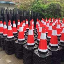 厂家直销橡胶圆路锥70CM反光路椎 路障锥 雪糕桶交通安全锥桶设施
