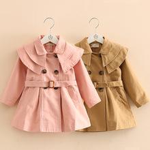 跨境专供童装一件代发 新款棉布女童风衣韩版宝宝外套一件代发潮