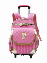 厂家新款韩版小学生拉杆书包儿童可拆卸二轮拉杆背包女童双肩包