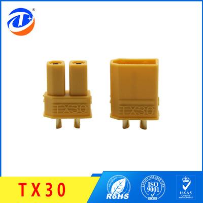 厂家直销TX30黄铜镀金香蕉插头 低阻值耐插拔使用寿命长达8000次