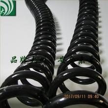 国标3芯弹簧线2.5平方螺旋电线缆 黑色电源线直线外径9.5毫米