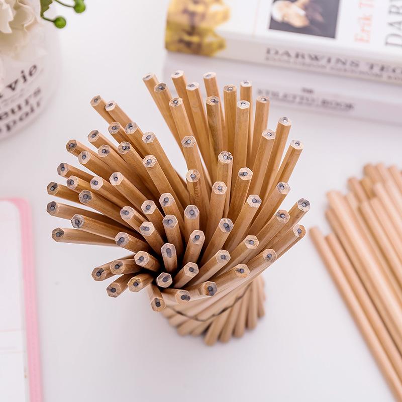 原木铅笔 环保写不断儿童hb铅笔小学生学习 办公素描笔幼儿园用品
