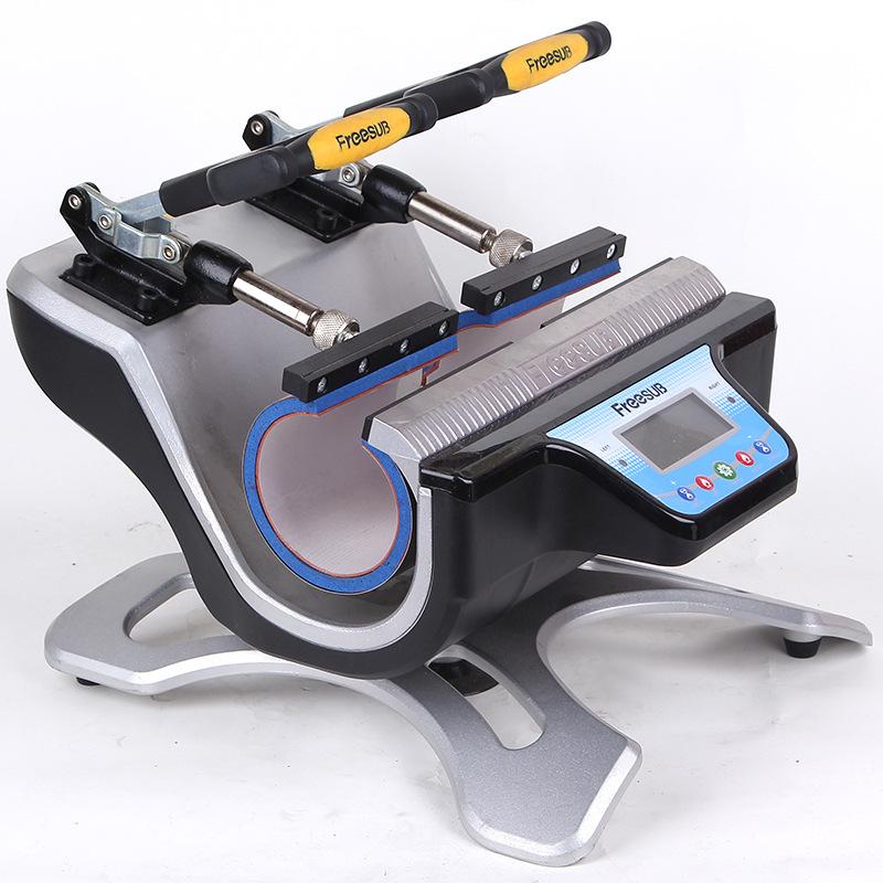 便携式卧式烤杯机器 迷你双工位烤杯机 新款多功能热转印烫画机