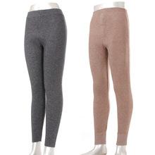 男女士柔软保暖中加厚羊绒羊毛裤 保暖棉裤?#21487;?#31446;条纹款