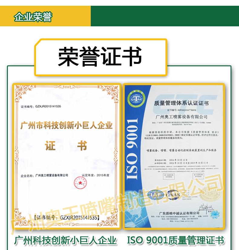 喷嘴荣誉证书