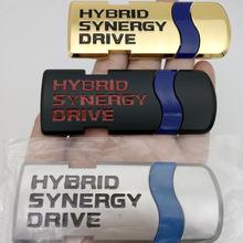 汽车车标 HYBRID车贴 混合动力车标 金属贴 车尾标