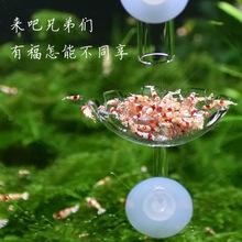 田园漫步玻璃投食器水晶虾喂食管空中虾食盆喂食器鱼缸龟缸投食器