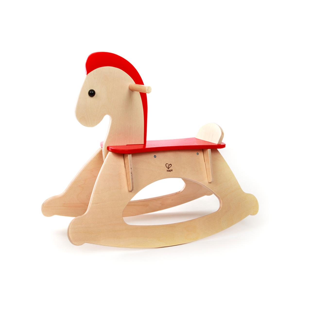 hape木马 儿童摇马 婴幼儿宝宝摇骑实木摇摇马男女孩玩具1-6岁