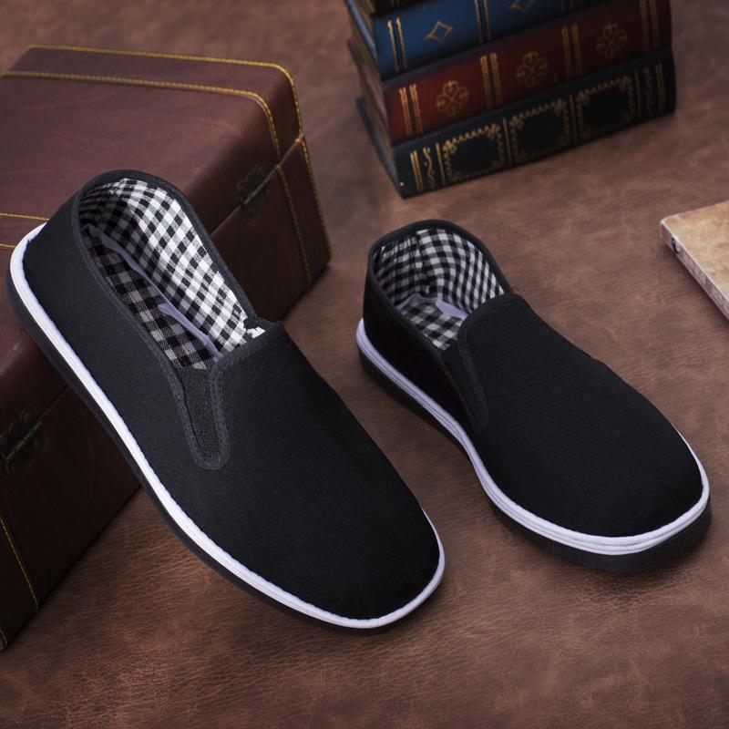 【热销】厂家舒适耐磨仿轮胎底老北京布鞋 千层底帆布单鞋 价格优
