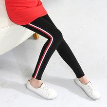 速卖通Ebay爆款女童打底裤春秋季新款童裤 儿童彩条运动?#27431;?#35044;