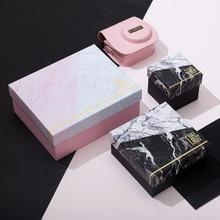 創意精美禮品盒正方形小號紙盒包裝盒生日禮物大理石婚禮伴手禮盒