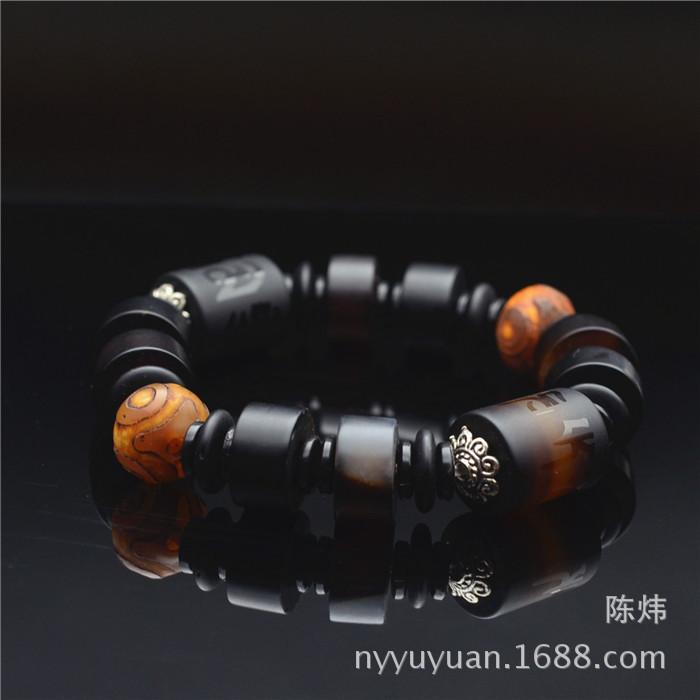 批发供应天然玛瑙?#36136;?#25346;件  玛瑙原色圆形手链  加工生产 10mm