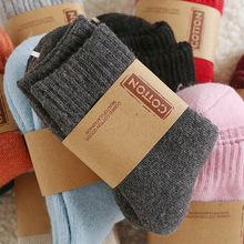 羊毛袜 冬季女?#32771;?#21402;毛圈保暖袜中筒兔羊毛混纺毛巾底女袜子批发
