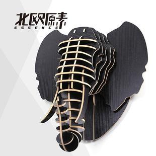 大象头装饰 墙饰 动物头像欧式家居 饰品风格家饰 创意
