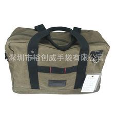 BSCI ISO9001认证厂家生定制帆布外旅行包 手提单肩斜挎旅行袋