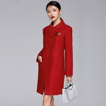 海赛蜜尔2019春秋冬装新款D37羊毛呢子大衣时尚中长款毛呢外套女