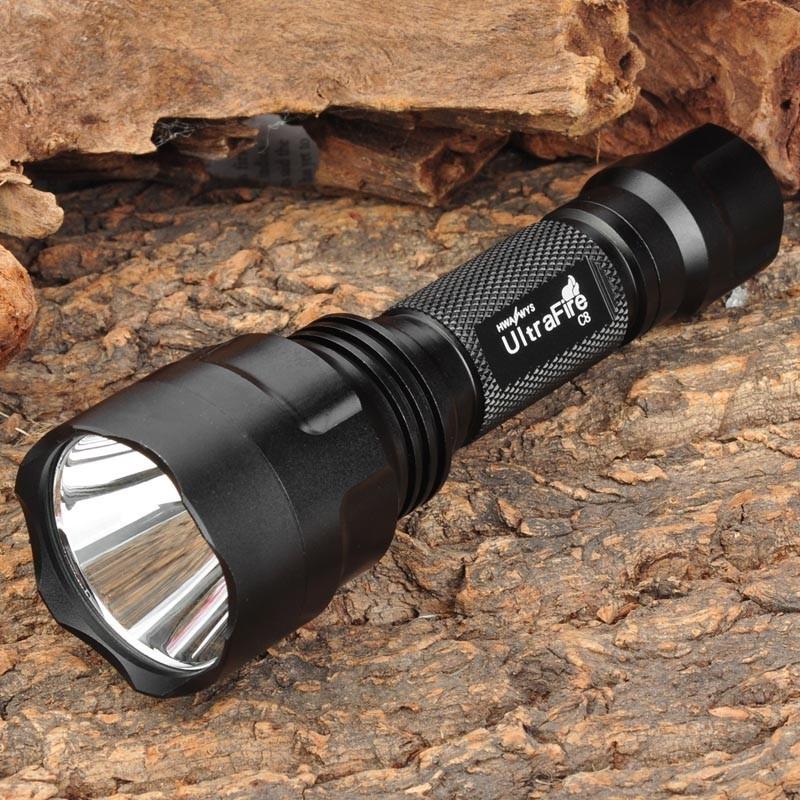 C8 T6强光手电筒 充电远射手电筒 USB充电手电筒 工厂直销批发