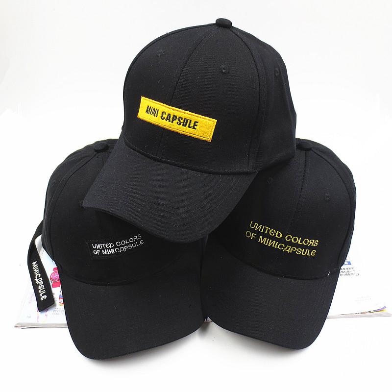韩国明星同款帽子MINI字母贴布嘻哈棒球帽男女休闲时尚遮阳鸭舌帽