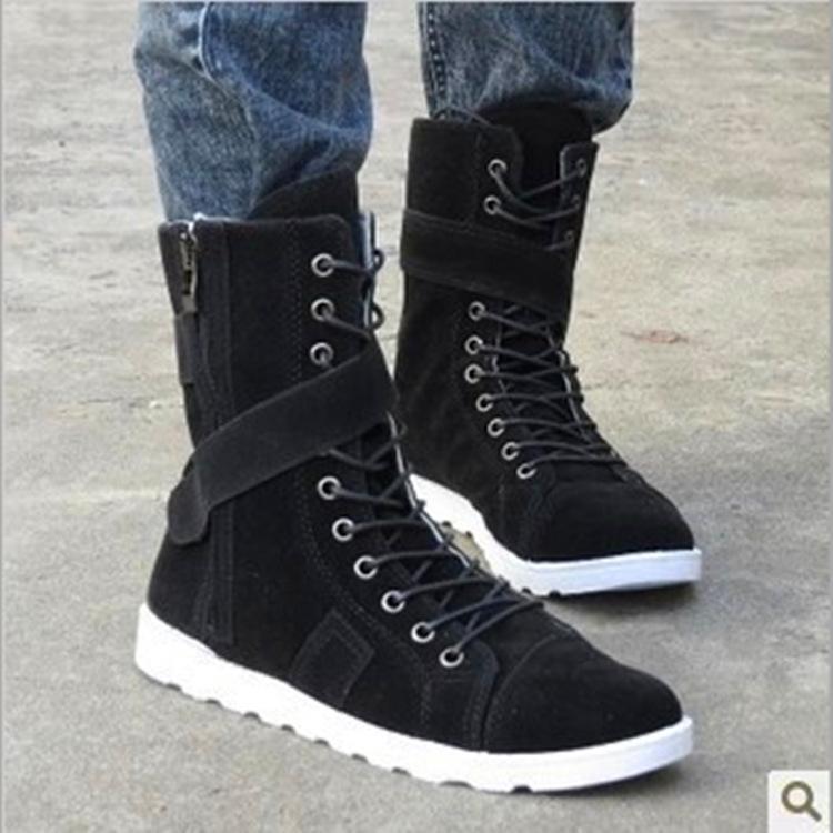 冬季新款复古马丁靴军靴男靴?#37038;?#23578;靴男士高帮长筒靴韩版男鞋批发