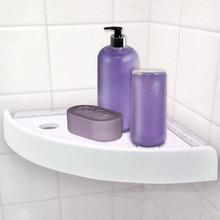 三角置物架卫生间浴室厨房收纳免打孔转角置物架吸盘无痕挂钩批发
