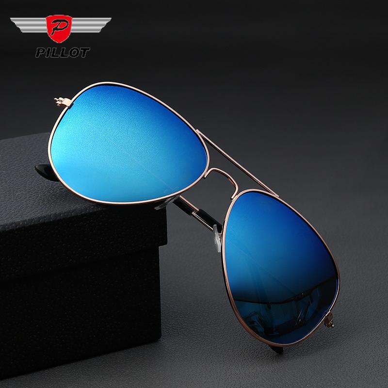 3025偏光太阳镜 男女士批发户外钓鱼时尚眼镜同款 金属蛤蟆镜