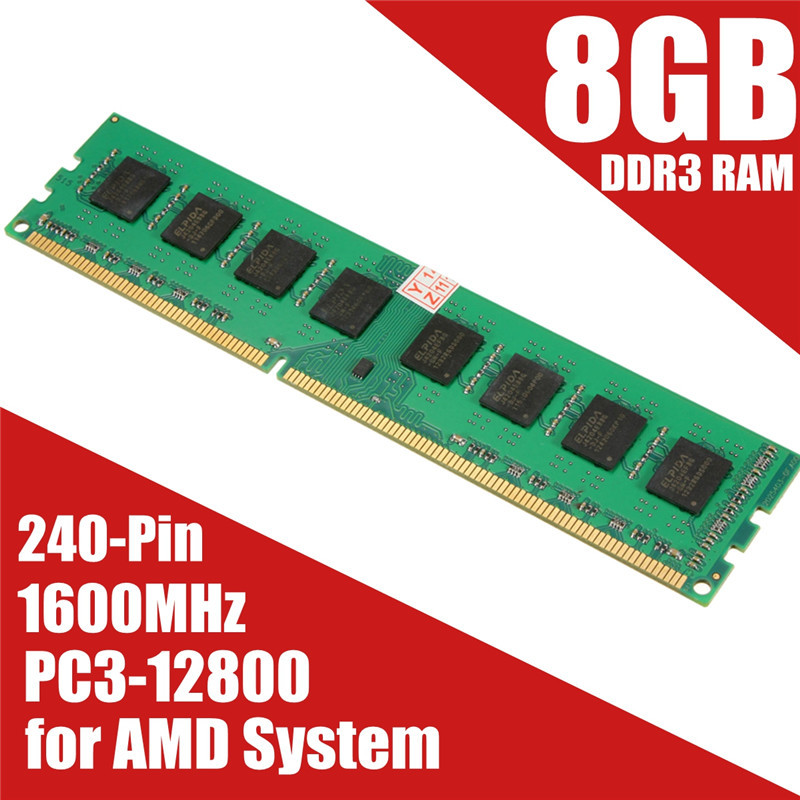 Brand New 8GB <font color=red>DDR</font><font color=red>3</font> Memory <font color=red>RAM</font> PC<font color=red>3</font>-12800 1600MHz Desktop PC D