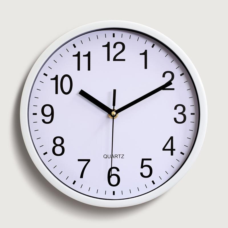 10英寸 25CM 塑料挂钟 石英钟表卧室客厅挂钟表简约时钟定制LOGO