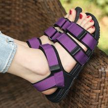 新款韩版女士凉鞋夏季运动休闲平跟越南女鞋防滑情侣鞋沙滩鞋学生