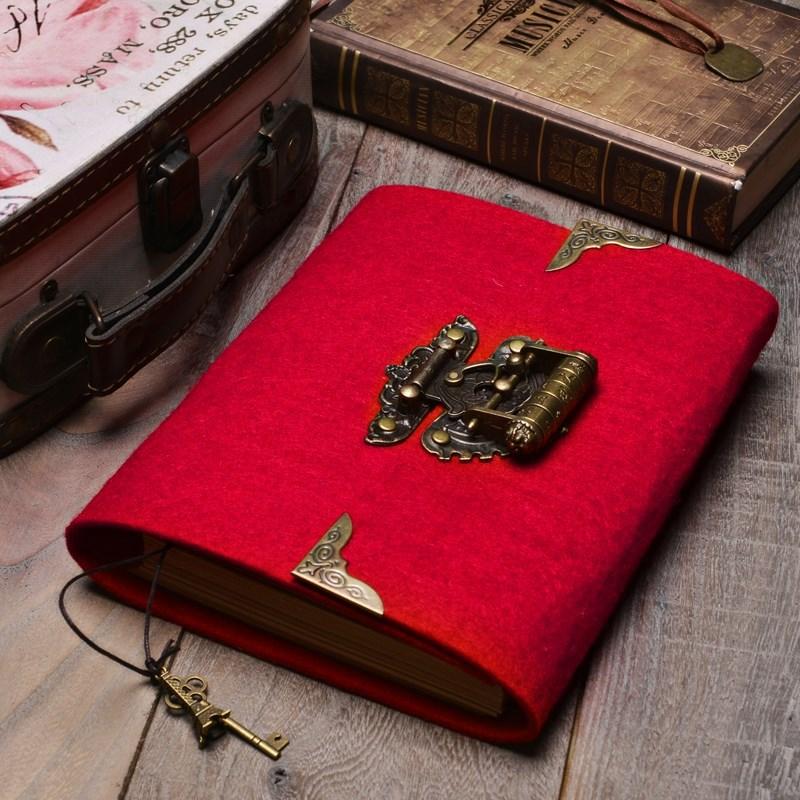 日记本记事本笔记本带密码锁学生便签小精装替换每日缝线商务周边