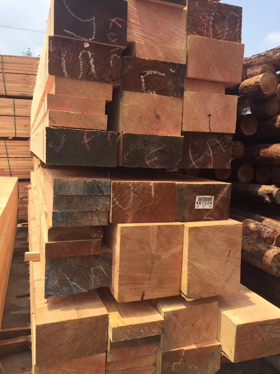 厂家定制各种规格防腐材刨光 刨光木材 刨光倒圆角木材