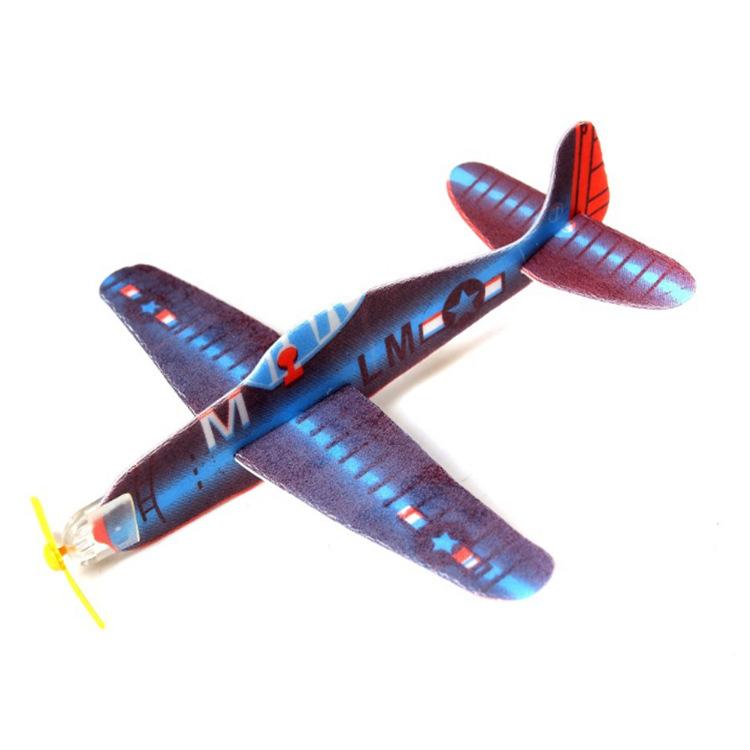 厂家直销diy手工小制作益智玩具航模手抛滑翔机泡沫飞机小礼品