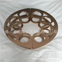 东莞中式玫瑰金拉丝不锈钢镂空半圆拉手实物效果图