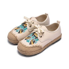 厂家直销经典款京剧脸谱绣花鞋 秋季爆款情侣系带布鞋一件代发