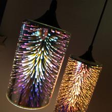 后现代简约3D玻璃led吊灯北欧创意美式复古工业餐客厅家居灯饰具