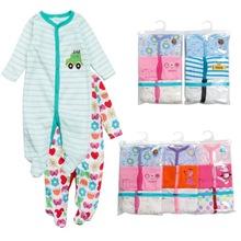 工厂直批发款卡特纯棉长袖哈衣婴儿连体衣爬服包脚连身衣婴儿童装