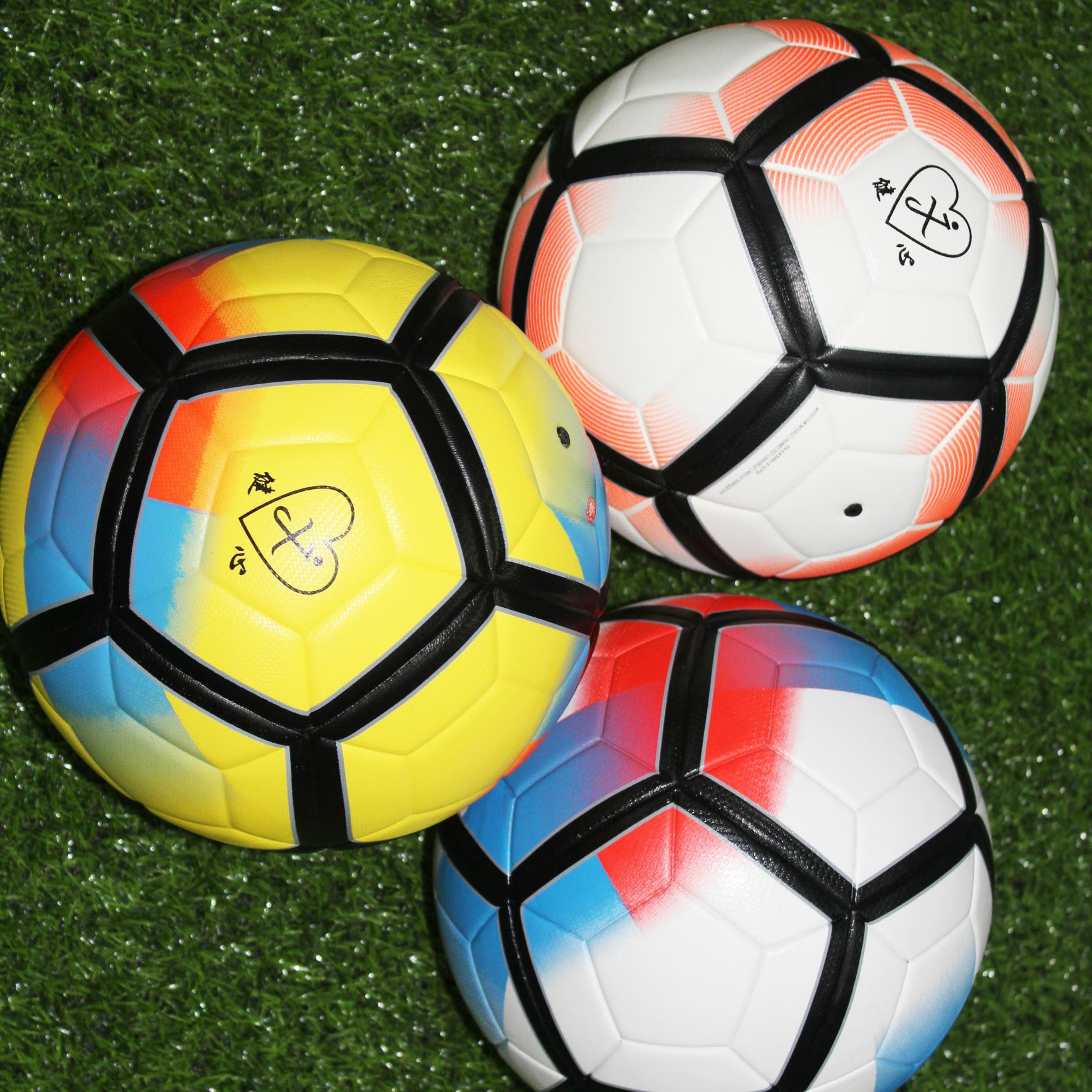 2018足球现货胶粘足球5号足球贴皮足球工厂tpu足球