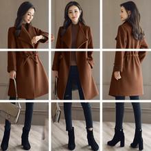 呢子大衣女中长款韩版2017秋冬季新款收腰显瘦韩国小个子毛呢外套