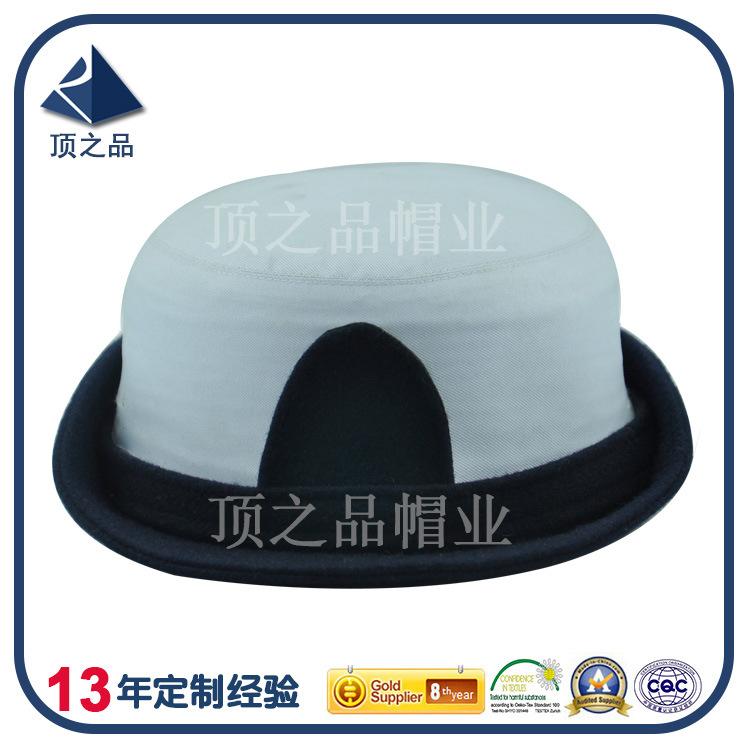 可根据要求定制军用女警官女警察帽子 配彩色织带帽徽卷檐安保帽