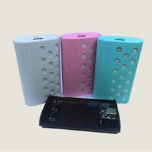 新款充电宝外壳爆款三节18650电池套件免焊接移动电源套料盒