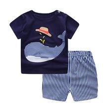 男女童短袖T恤纯棉儿童内衣套装夏季婴儿两件短袖套装可挑码