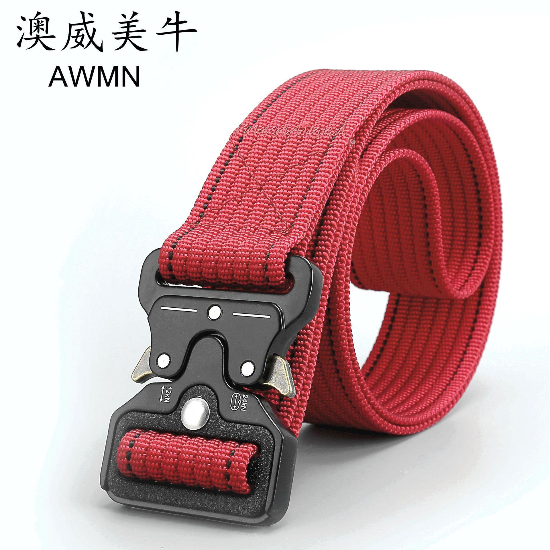 3.8cm 战术腰带多功能皮带军迷男士尼龙武装带眼镜蛇皮带