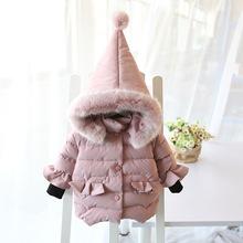 童装秋冬女童棉衣儿童尖尖帽棉服婴幼童加厚保暖羽绒圣诞帽棉衣